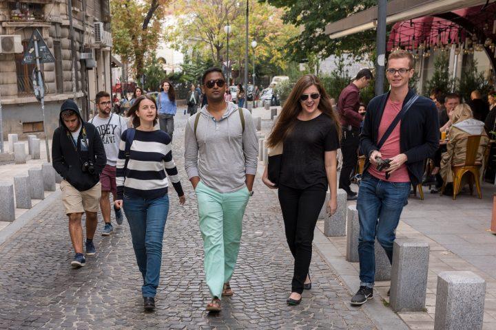 Walking in Bucharest